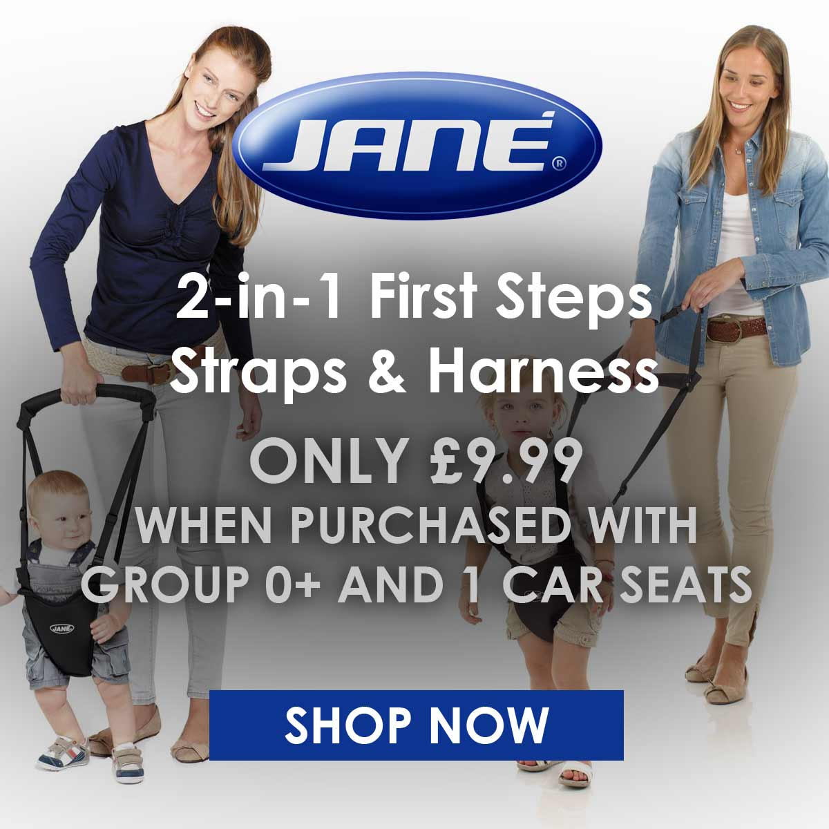 Jane 2in1 First Steps Straps & Harness