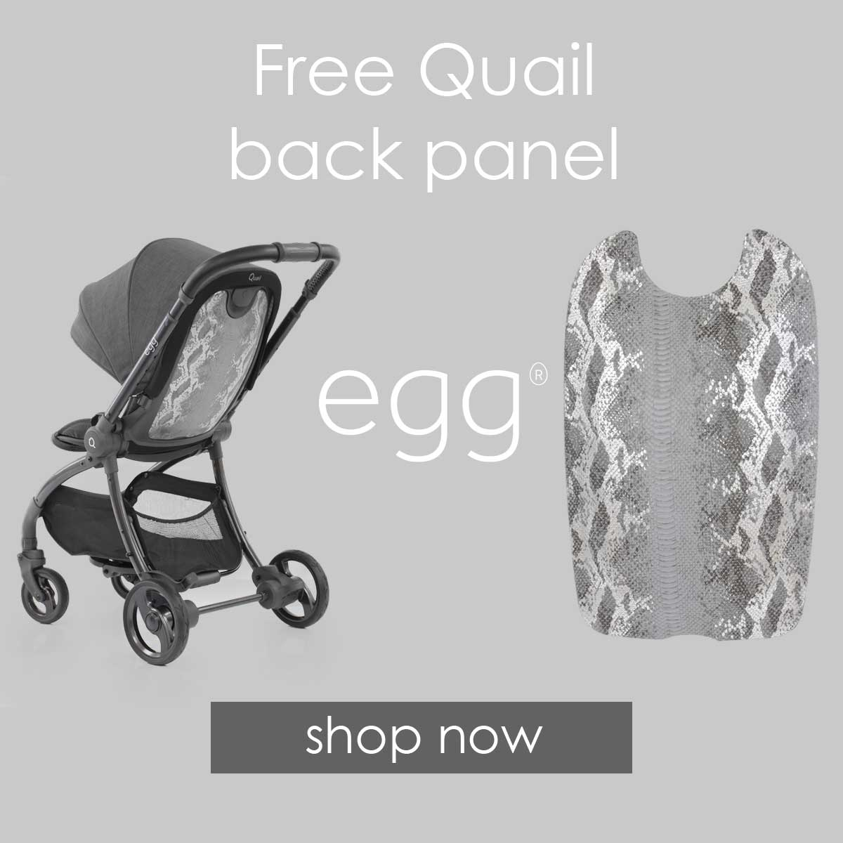 Free back panel with Quail strollers