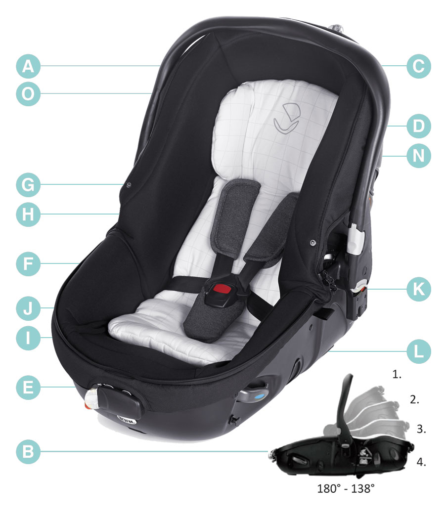 Jane Matrix Light 2 lie-flat award winning car seat