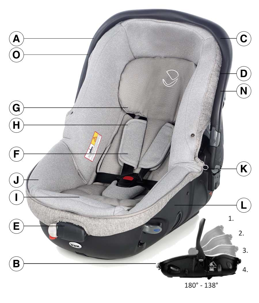 Jane Matrix Light 2 Car Seat Technical details