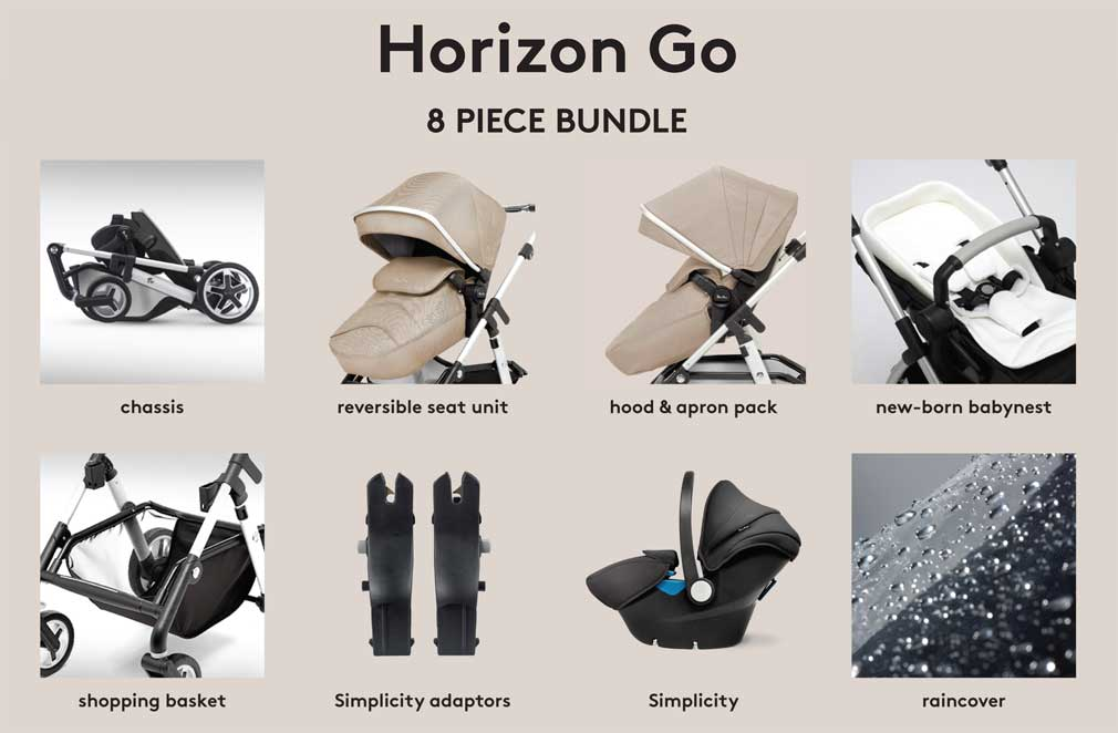 Silver Cross Horizon Go 8 Piece Bundle Deal