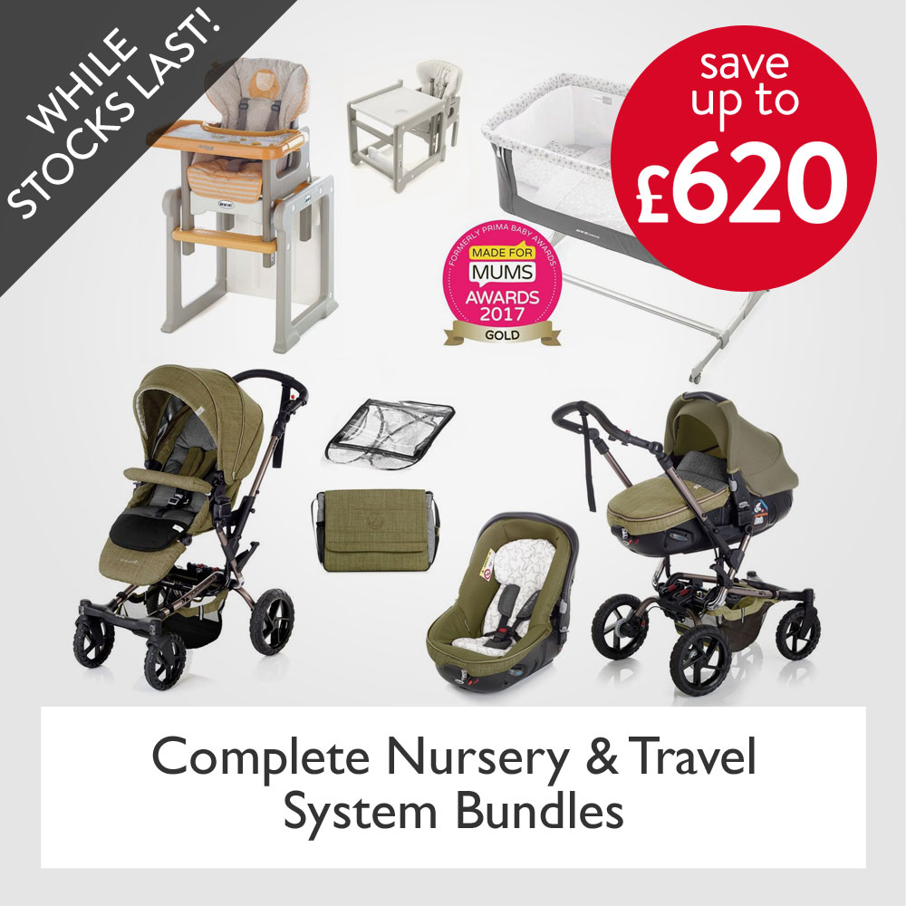 up to 45% off Pram and Nursery Bundles