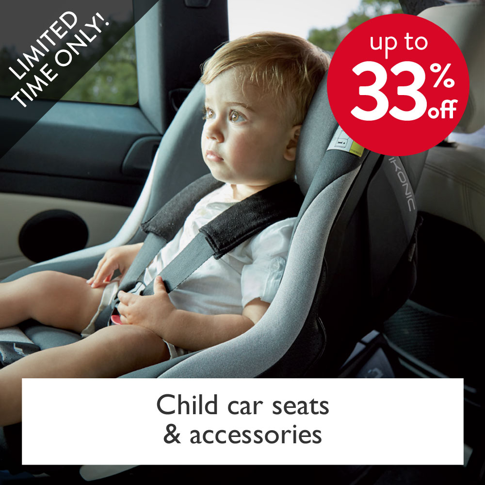 up to 33% off car seats and accessories