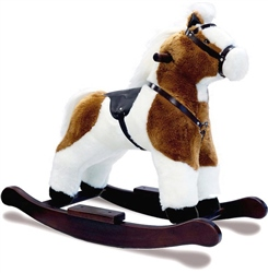 "Mulholland and Bailie Skewbald Horse Rocker 17""    """