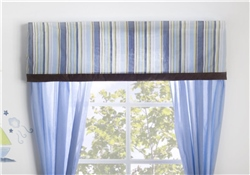 Kids Line Window Valance Mosaic Transport