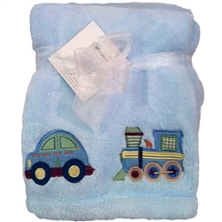 Kids Line Boa Blanket pram size All Aboard Blue