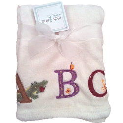 Kids Line Boa Blanket pram size My First ABC Cream
