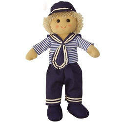 Powell Craft Medium Sailor Boy Rag Doll