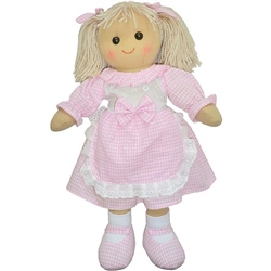 Powell Craft Medium Rag Doll with Pink Apron
