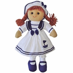 Powell Craft Medium Rag Doll Sailor Girl