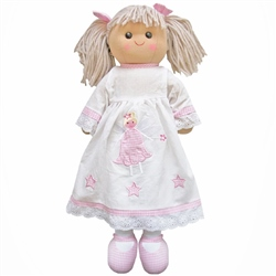 Powell Craft Large Rag Doll Girl with Angel Dress