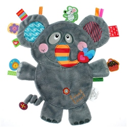 Label Label Elephant Activity Toy Comforter