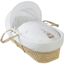 Clair De Lune Tippy Tumble Palm Moses Basket