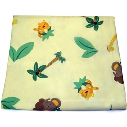 Nojo Jungle Babies Fitted Cot Sheet