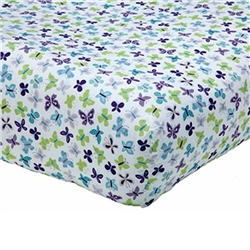 NoJo Beautiful Butterfly Fitted Cot Sheet