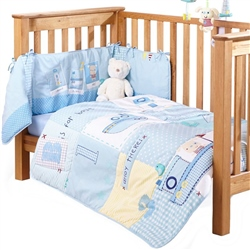 Clair De Lune Ahoy 2 Piece Cot / Cot Bed Bedding Set
