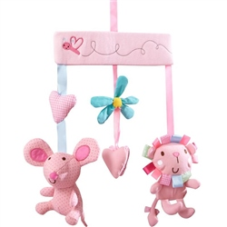 Clair De Lune Lottie and Squeek Musical Cot Mobile