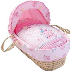 Clair De Lune Lottie and Squeek Palm Moses Basket