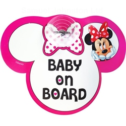 Disney Minnie Mouse Baby On Board Sign