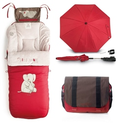 Jane 2013 Footmuff, Pram bag & Parasol set, Universal.