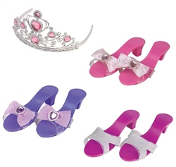Halsall Toys Glam Shoes & Tiara Set