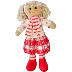Powell Craft Medium Rag Doll with Scarf