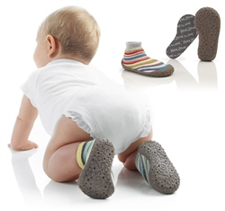 Jane Soki's First Steps Rubber Sole Socks