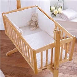 Clair De Lune Dimple Rocking Cradle Quilt/Bumper Set