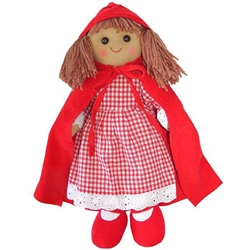 Powell Craft Medium Red Riding Hood Rag Doll