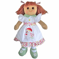 Powell Craft Medium Rabbit Dress Rag Doll