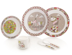 Jane Microwave Crockery Set, 6 piece, Tangram