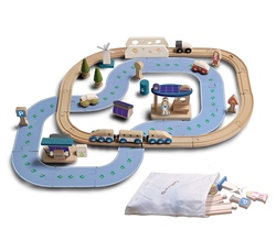 Ever Earth Ecological city train set + 50pc Accessories