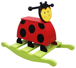 Teamson Magic Garden Wooden Rocking Ladybird