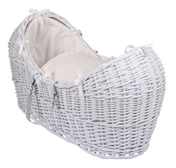 Clair De Lune Noah Pod Marshmallow White Wicker