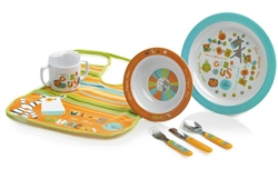 Jane 7 Piece Melamine Crockery Set