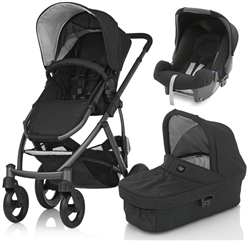 Britax Smile Pushchair + Carrycot + Baby Safe Car Seat