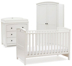 Silver Cross Ashby Style White 3 Piece Room Set