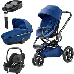 Quinny Moodd + Foldable Carrycot + Pebble + FamilyFix Base
