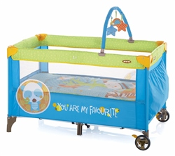 Jane Duo Level Travel Cot and Toy bar