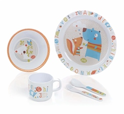 Jane 5 Piece Melamine Crockery Set  - Abc