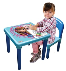 Disney My First Activity Table and Chair Set + 30pc Creative Kit