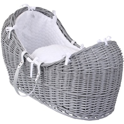 Clair De Lune Noah Pod Marshmallow Grey Wicker