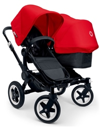 Bugaboo Donkey Duo Black Chassis + Tailored Set