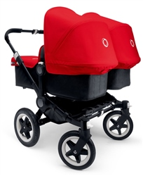Bugaboo Donkey Twin Black Chassis + Tailored Set