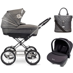 Silver Cross Sleepover + Simplicity Car Seat