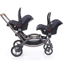 ABC Design Zoom Style Tandem + 2 Risus car seats