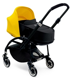 Bugaboo Bee3 Pushchair + Carrycot, Black + Cabriofix