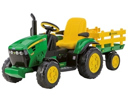 Peg Perego John Deere Ground Force with trailer 12 Volt (Option: Green)