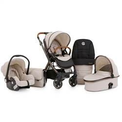 BabyStyle Oyster 2 City Bronze + Carrycot + Car Seat + Accessories