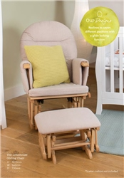 Little House Glider Chair with footstool